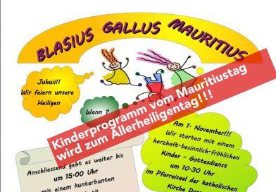 Mauritiustag wird Allerheiligentag